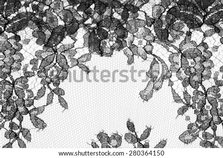 Texture lace fabric. lace on white background studio. thin fabric made of yarn or thread. typically one of cotton or silk, made by looping, twisting, or knitting thread in patterns - stock photo