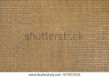 Texture material background of rattan brown horizontal - stock photo