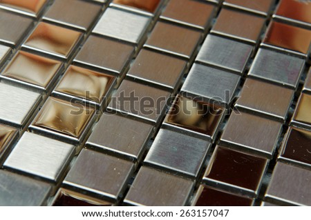 texture mosaic tiles, texture mosaic for the bathroom to the kitchen, floor and walls, used to repair the premises, structure design decor. Metal shiny surface