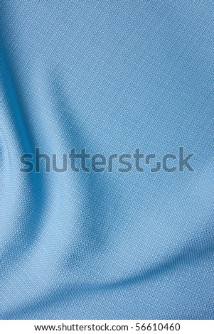 Texture of  a blue fabric - stock photo