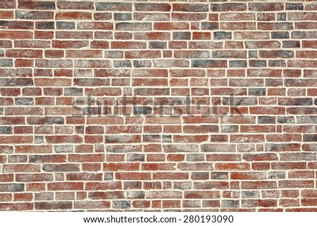 Texture of a brick wall, background - stock photo