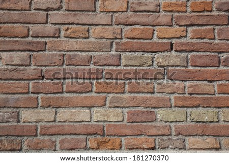Texture of a brick wall (photo)
