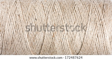 Texture of a coil of rope - stock photo