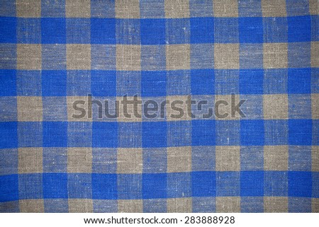 texture of a linen napkin pattern red square