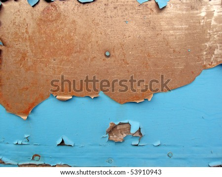 Texture of an rusty metallick surface with cracked paint - stock photo