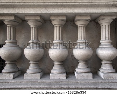texture of architecture detail on old buildings - stock photo
