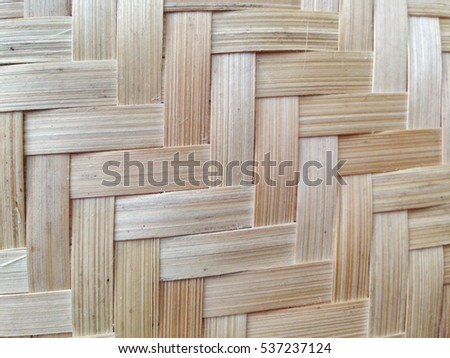 texture of bamboo stripe in Thai style