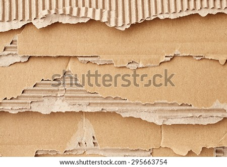 Texture of beige torn cardboard - stock photo