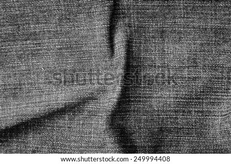 Texture of black jeans background - stock photo