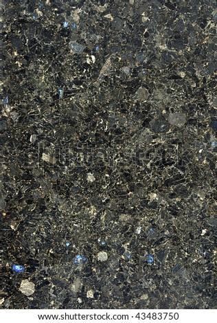 Texture of black marble - stock photo