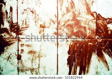Texture of Bloodied dirty floor close up - stock photo