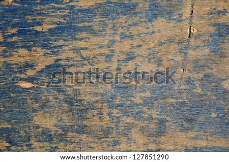Texture of blue grunge plywood. - stock photo