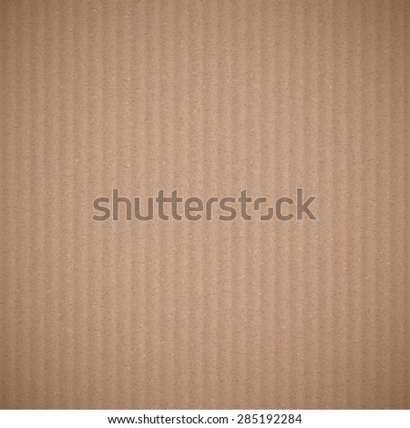 Texture of brown corrugated cardboard. Stock Image background. - stock photo