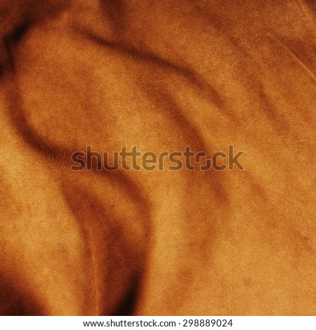 Texture of brown crumpled leather - stock photo