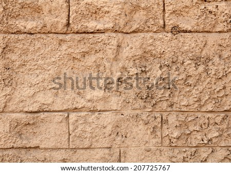 Texture of brown plaster relief