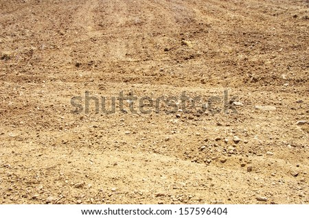 texture of brown soil - stock photo