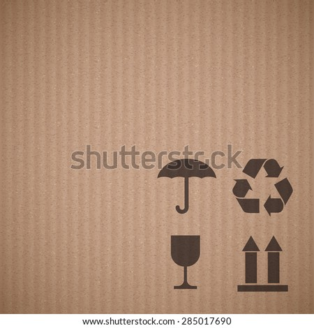 Texture of cardboard with signs. Stock Image background. - stock photo