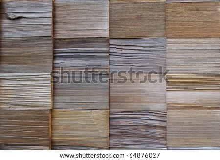 texture of cedar wood - stock photo