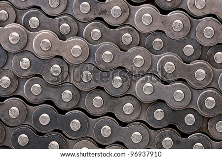 Texture of Chain - stock photo