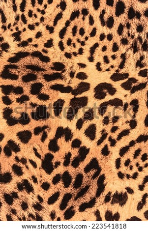 texture of close up fabric striped leopard for background - stock photo