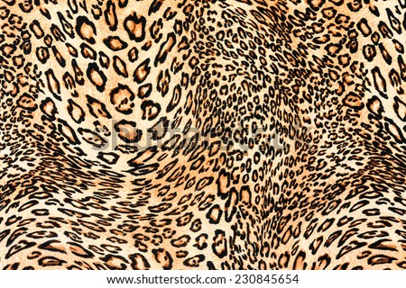 texture of close up print fabric stripes leopard for background - stock photo