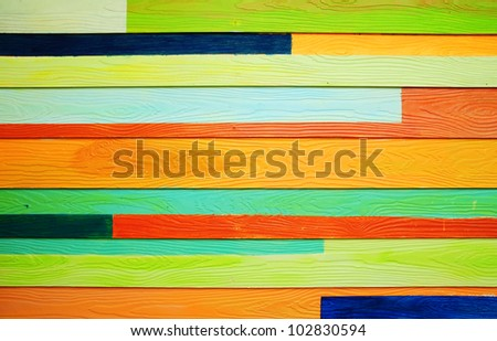 Texture of colorful wood background - stock photo