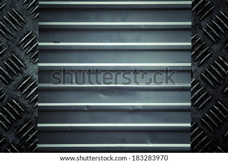 Texture of corrugated metal - stock photo