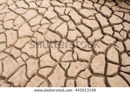 texture of cracked clay - stock photo