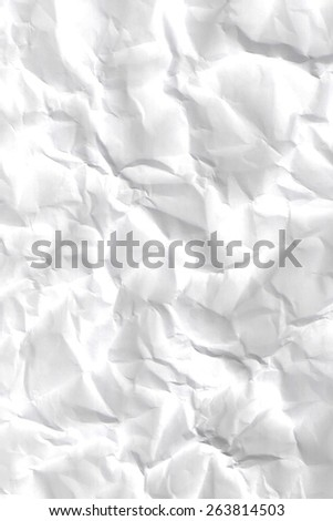 Texture of crumpled paper -white paper sheet.