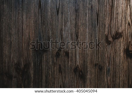 Texture of dark  brown wooden surface - stock photo
