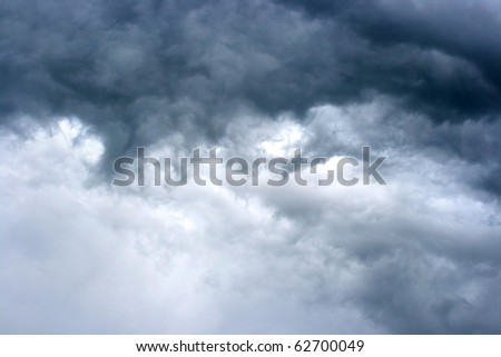 texture of dark storm clouds - stock photo