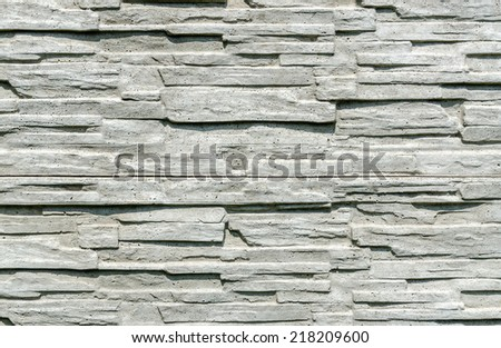 Texture of decorative concrete fence, background - stock photo