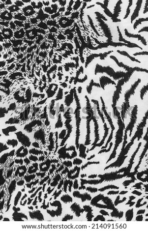 texture of fabric striped leopard for background - stock photo