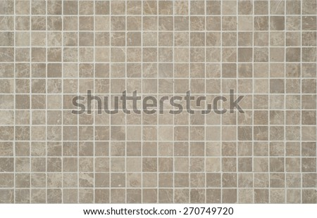 Texture of fine ceramic tiles cream and brown. - stock photo