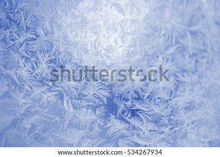 Texture of frost in the cold