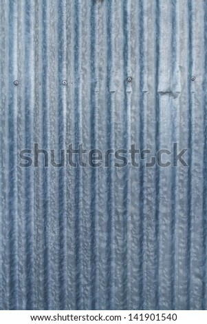 Texture of galvanized iron plate - stock photo
