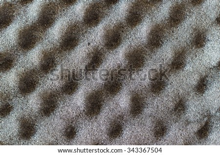texture of gray  soft foam - stock photo