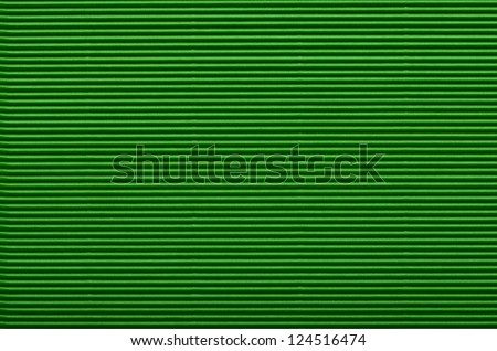 Texture of green corrugated paper for background used - stock photo