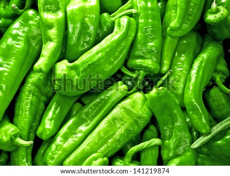 Texture of green peppers