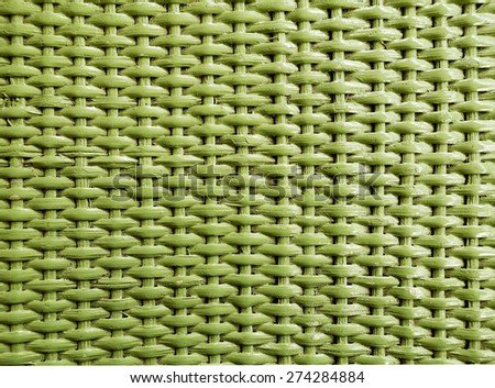 Texture of Green Rattan Background - stock photo