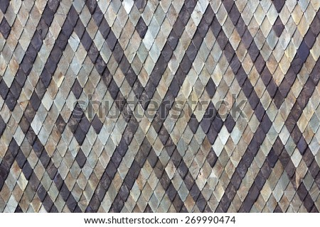 texture of grey tiled roof - stock photo