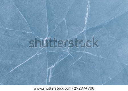 Texture of ice of Sea of Japan. - stock photo