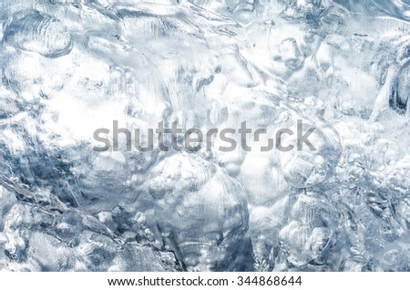 texture of iceberg or glacier - stock photo