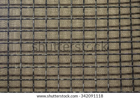 texture of iron grid metal dark background