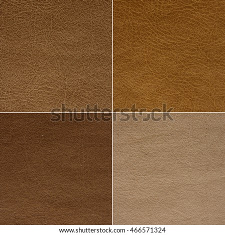Texture of leather in four colors