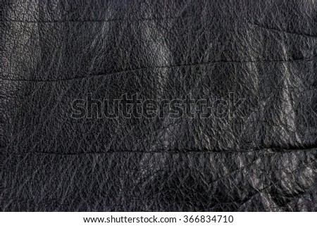 Texture of leather jacket. Leather background - stock photo