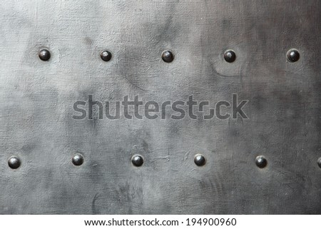 Texture of metal black steel - stock photo