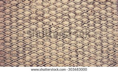 Texture of metal. Seamless Textures. Retro filter toning - stock photo