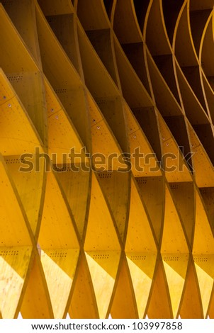 Texture of modern architecture - stock photo