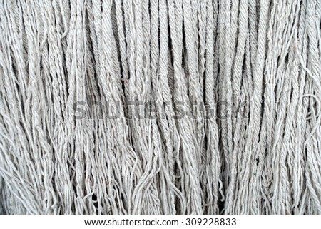Texture of mop textile for background